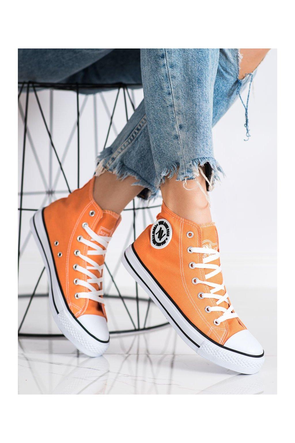 Oranžové dámske tenisky New age kod 082OR