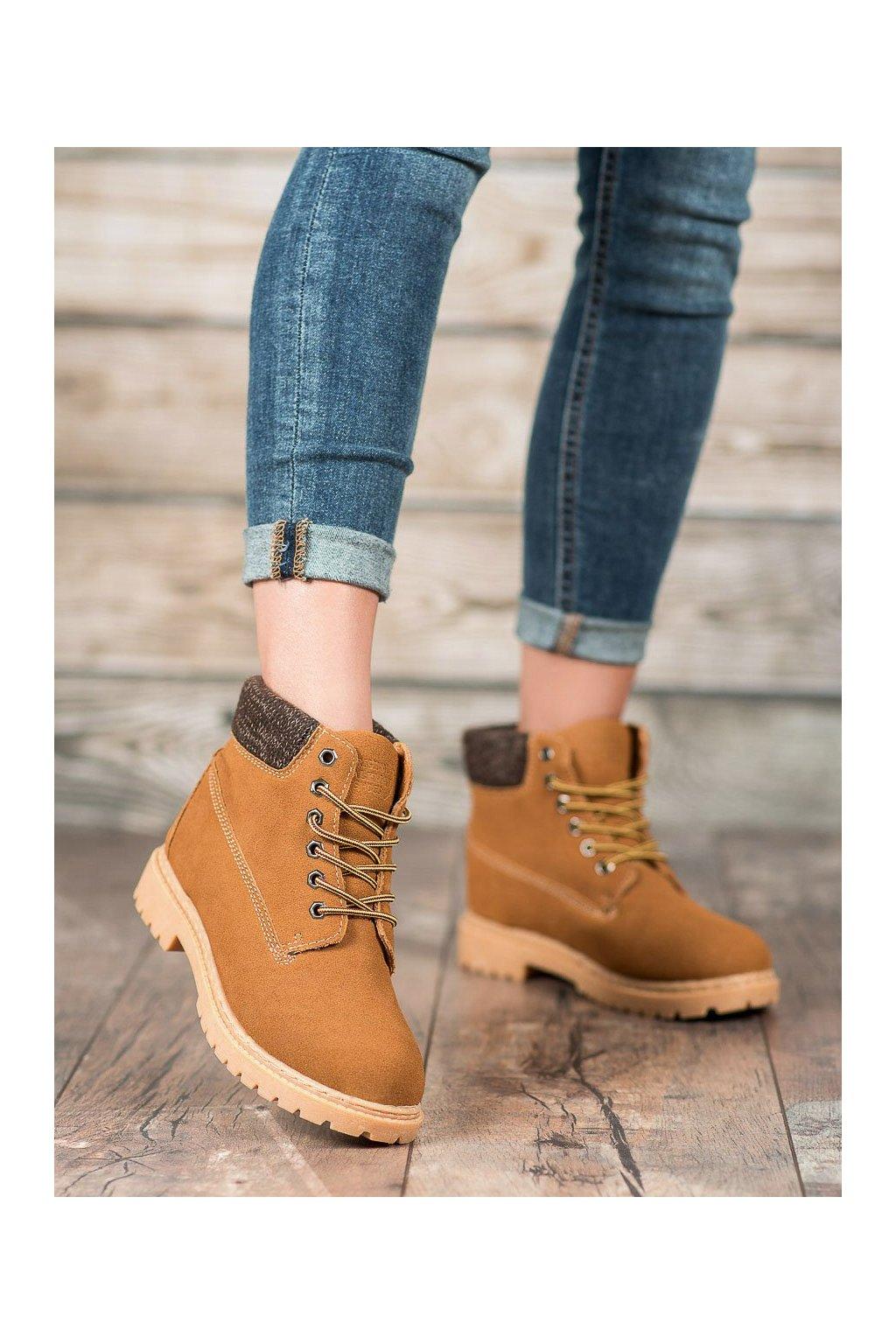 Hnedé dámske topánky Original walkman shoes kod 37211C
