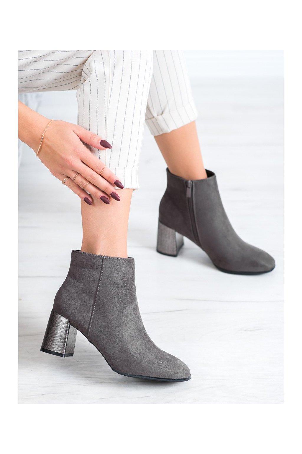 Sivé dámske topánky Goodin kod KW-12G