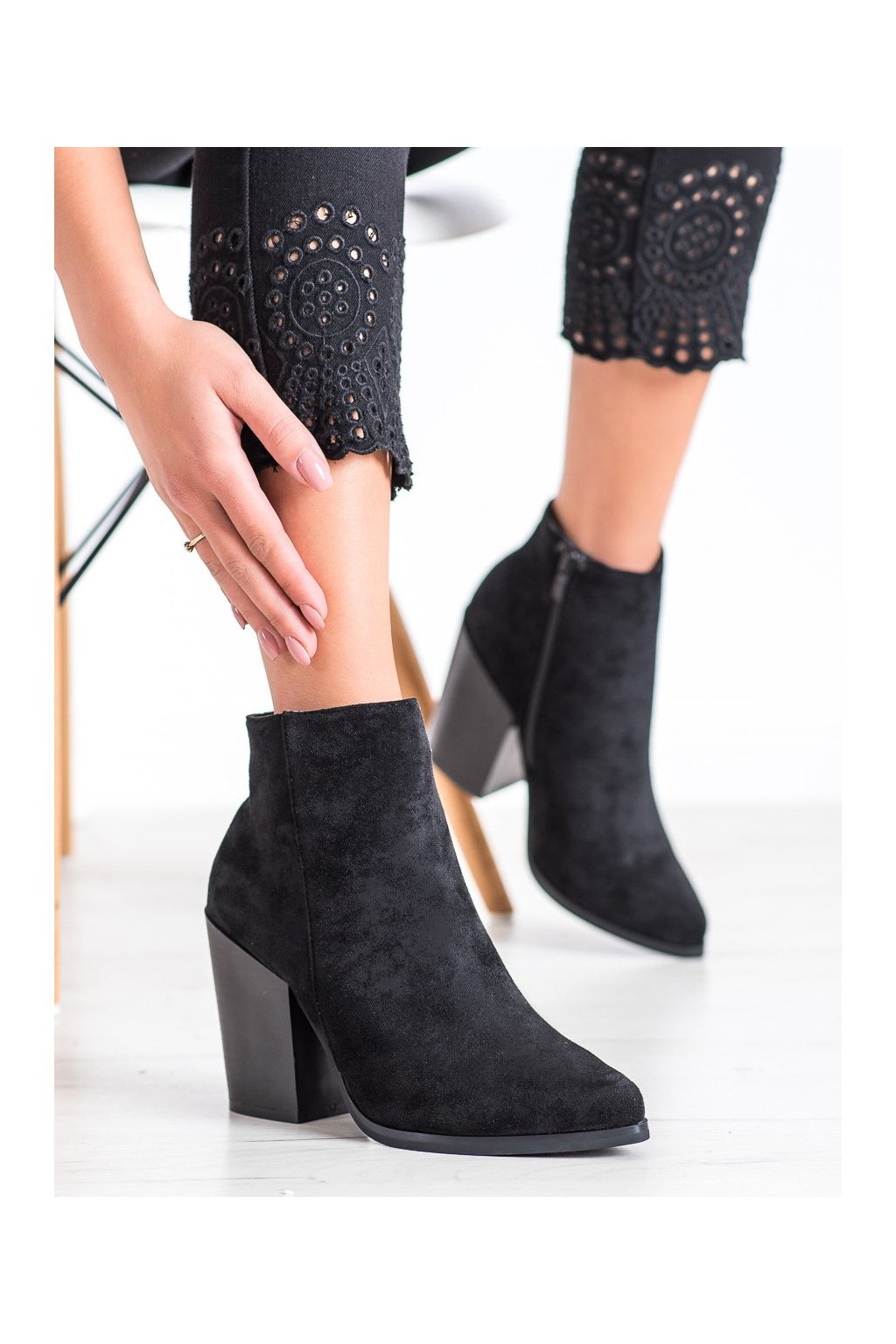 Čierne dámske topánky Marquiz kod TX-3207B