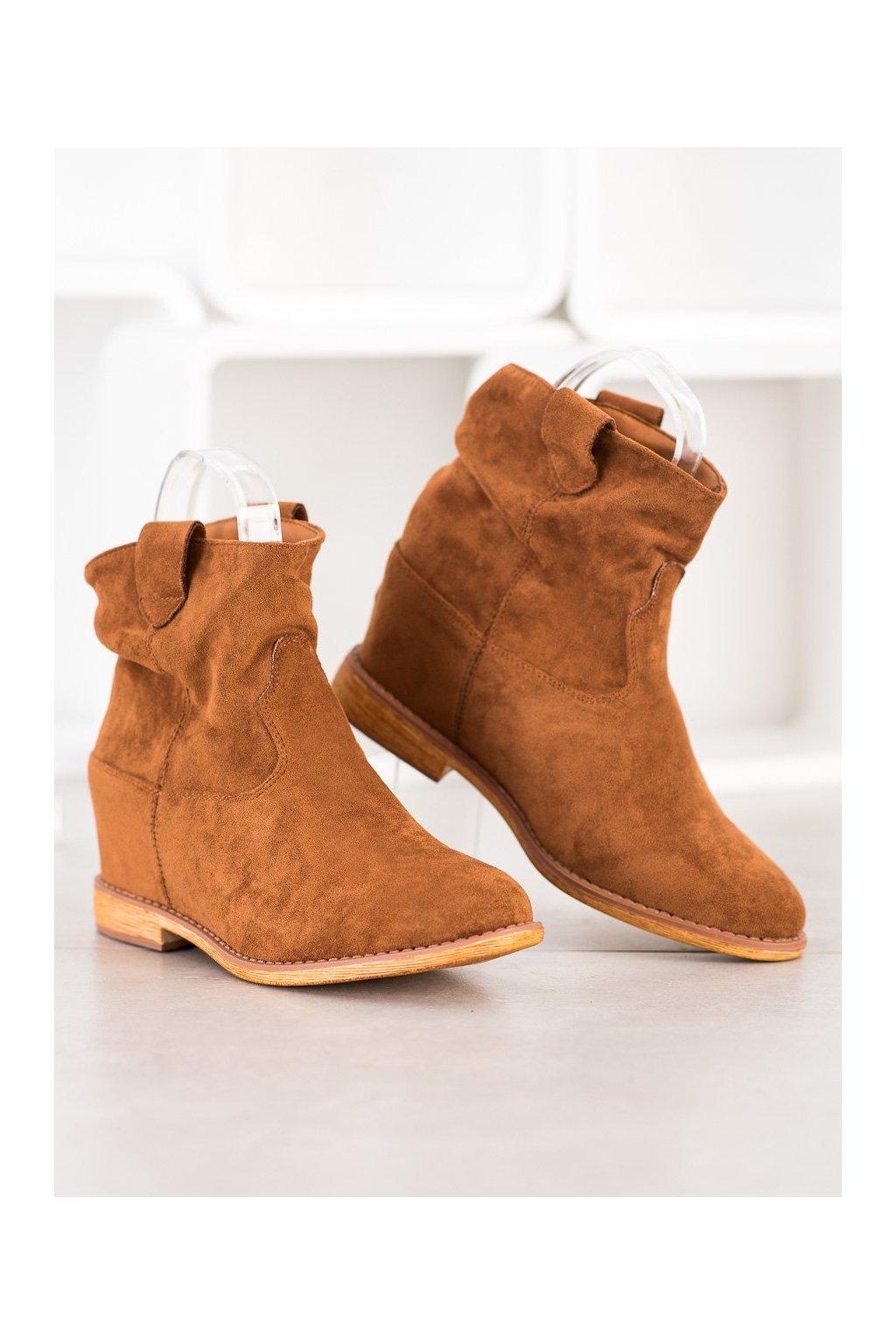 Hnedé dámske topánky Sergio leone kod ZT1011C