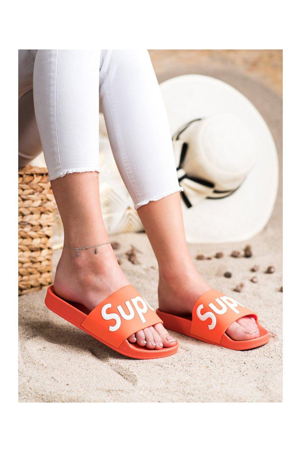 Oranžové dámske šľapky Seastar kod CK110OR