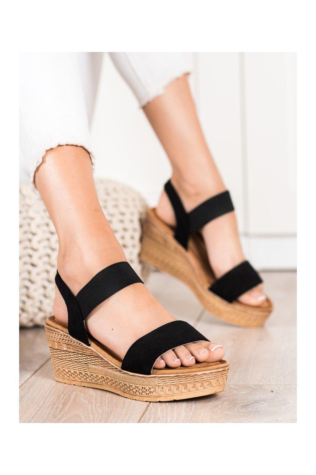 Čierne dámske sandále Queentina kod BH2606B