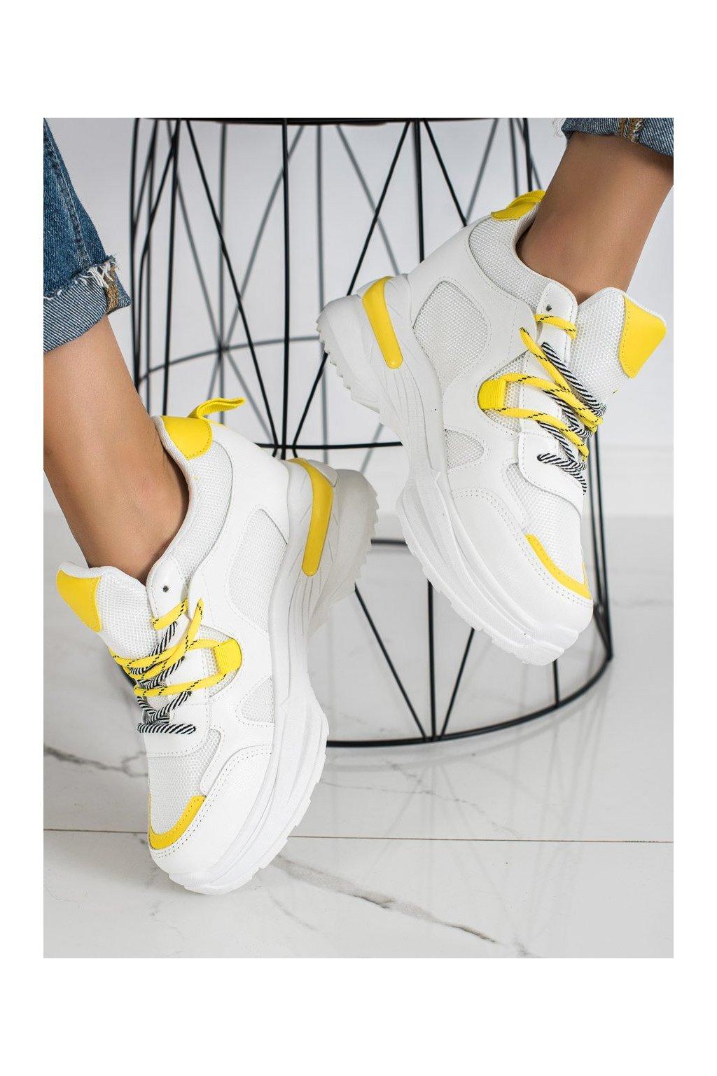 Biele dámske tenisky Trendi kod YD0190-01Y