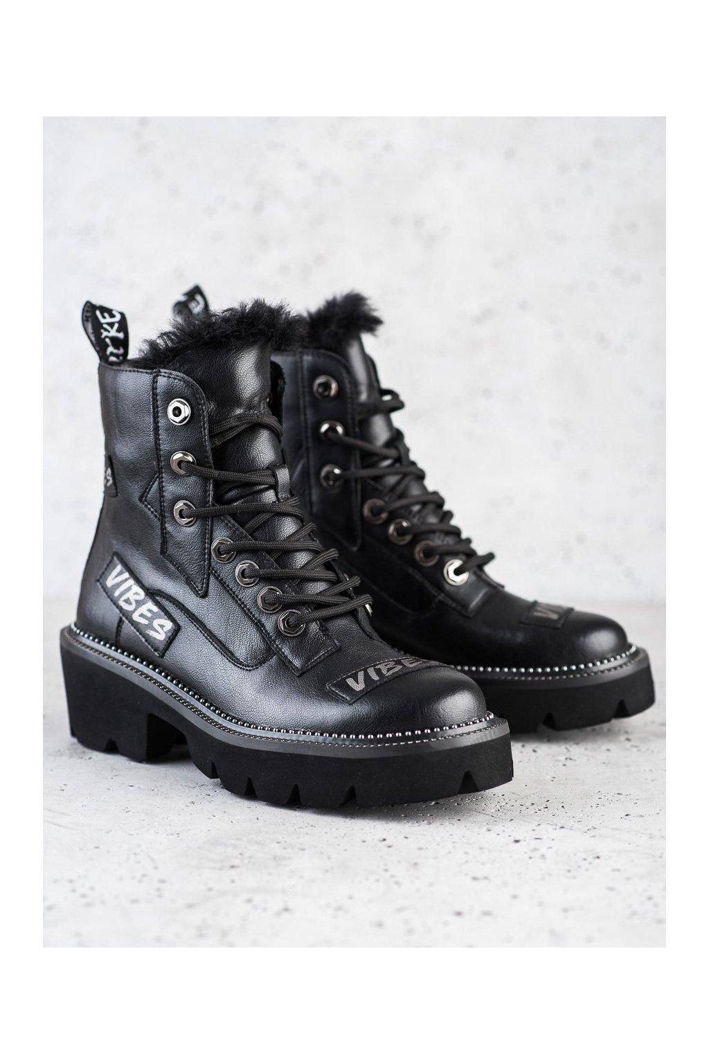 Čierne dámske topánky Artiker kod 47C158B