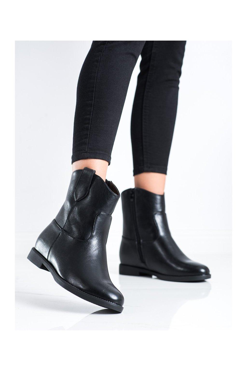 Čierne dámske topánky J. star kod A8302B