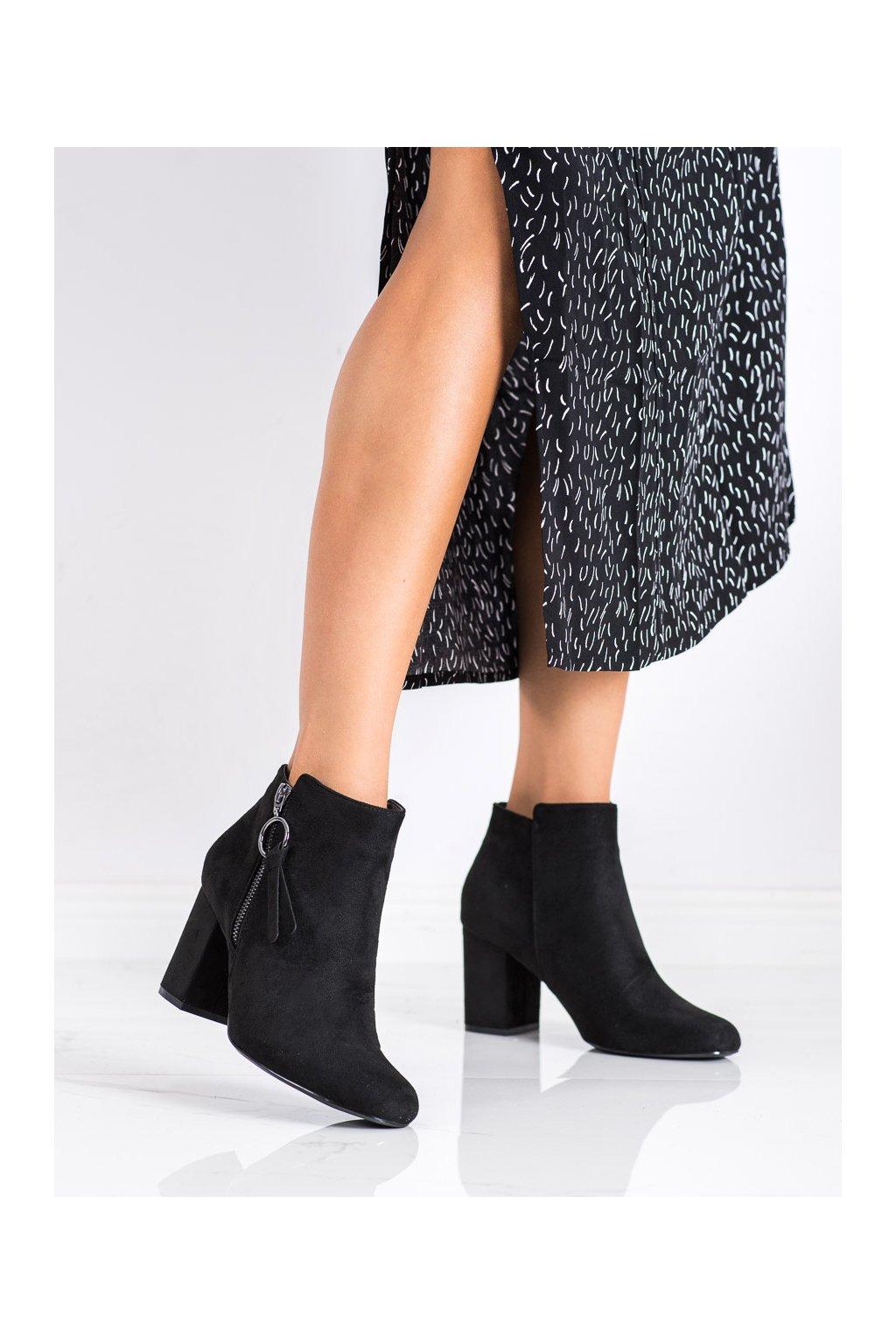 Čierne dámske topánky Goodin kod GD-KW-13B