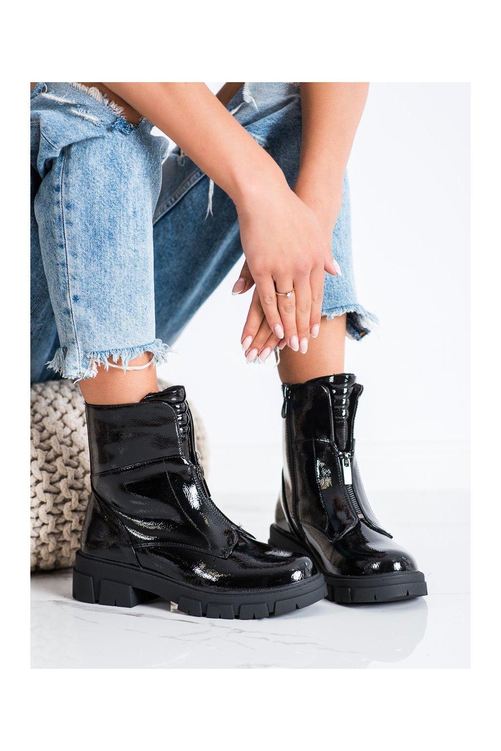 Čierne dámske topánky S. barski kod 223-88B