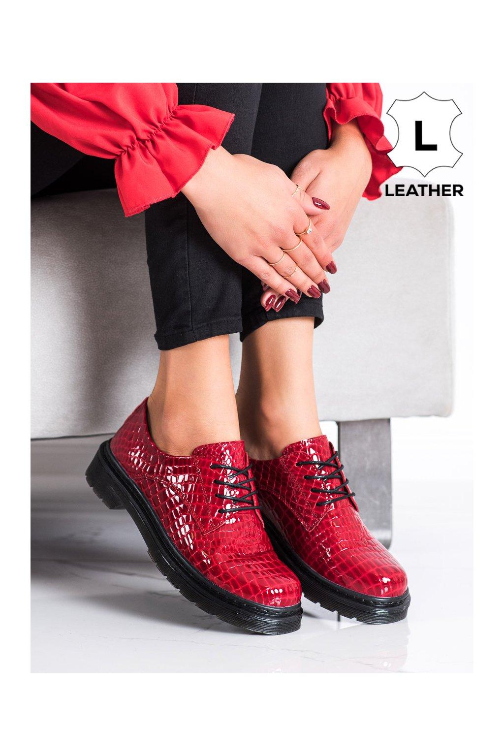 Červené dámske poltopánky Filippo kod GLN449/21R