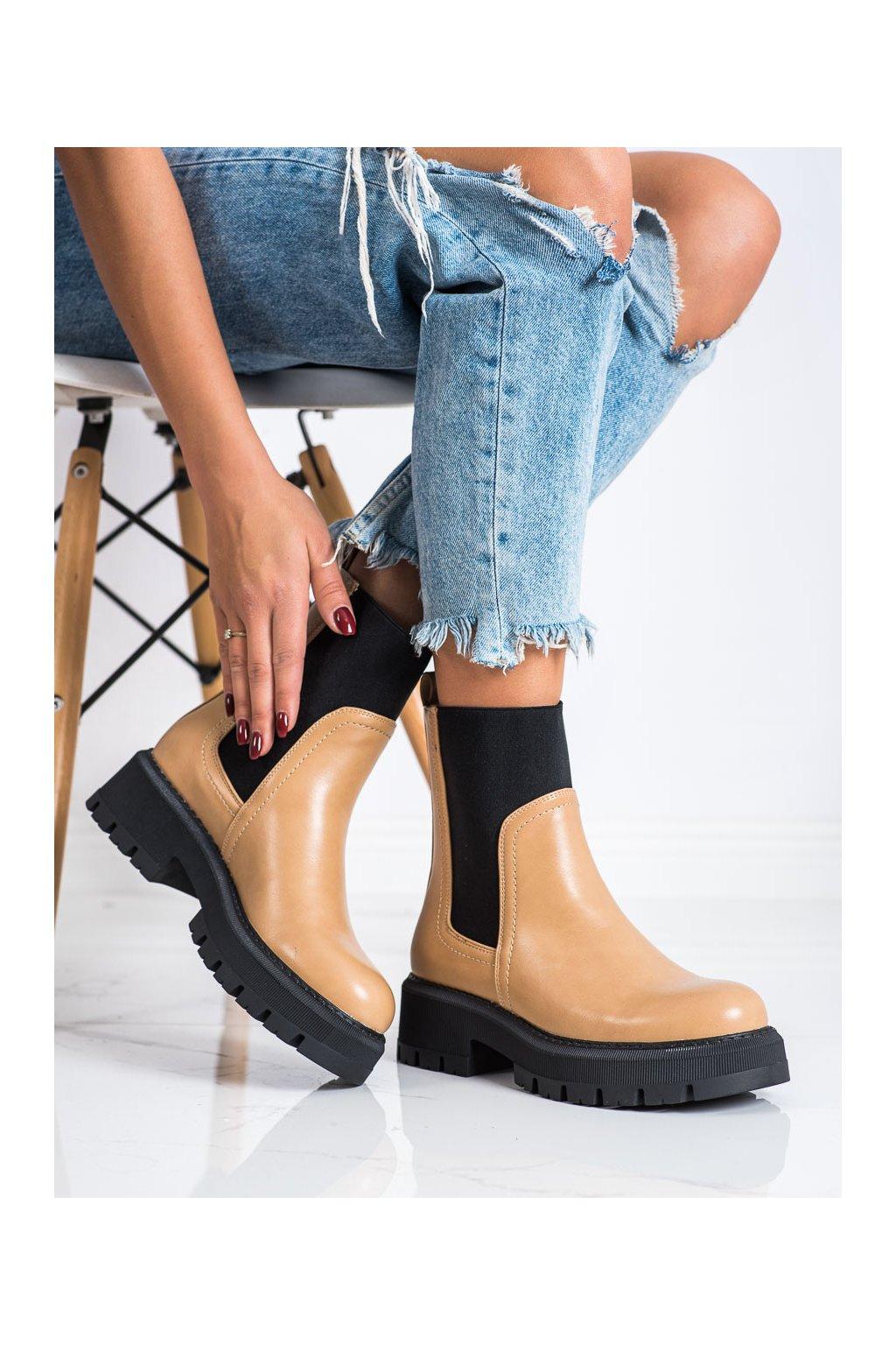 Hnedé dámske topánky Seastar kod YK17C