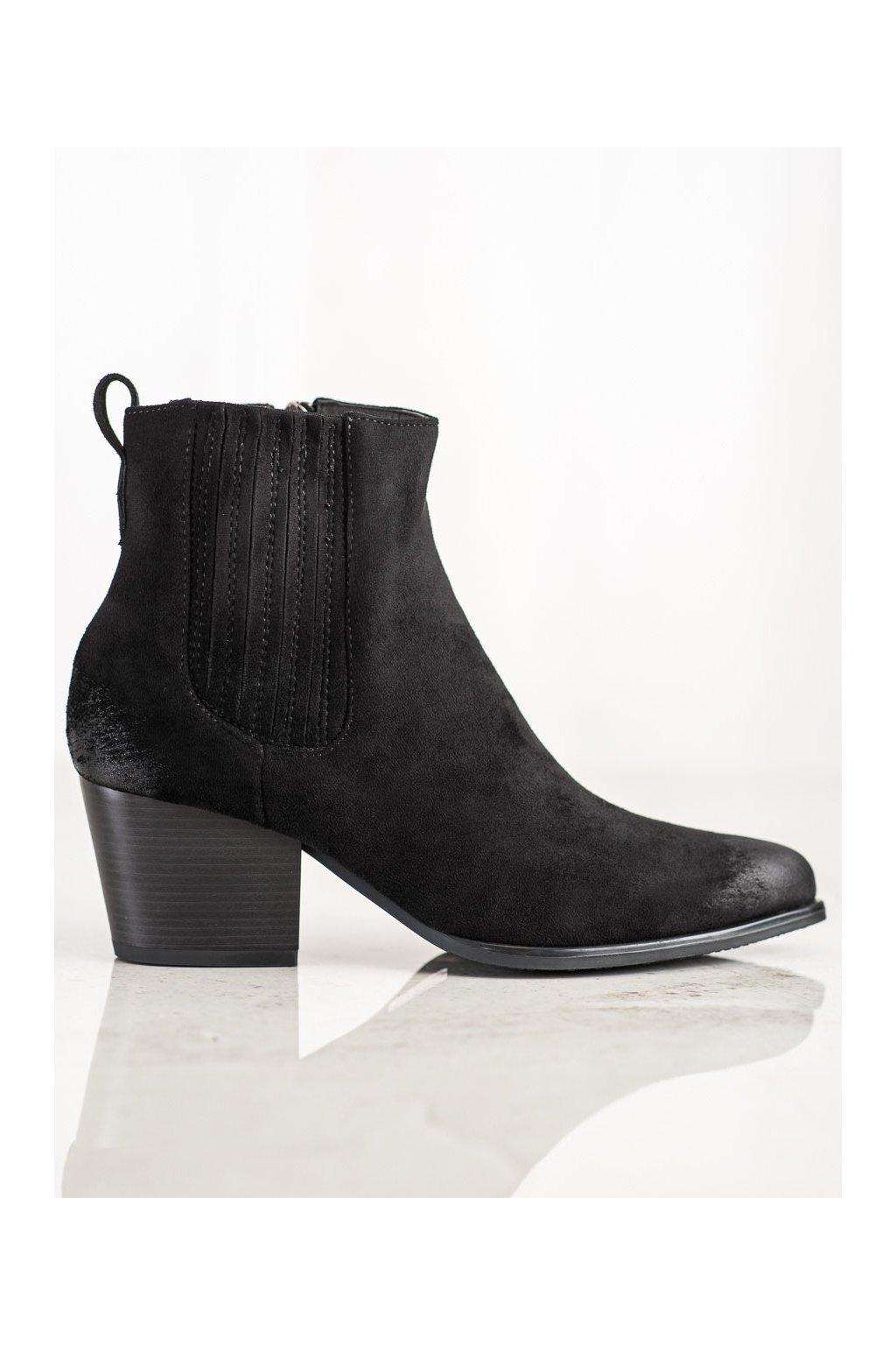 Čierne dámske topánky Vinceza kod XY22-10637B