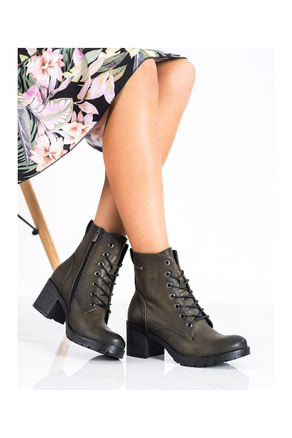 Zelené dámske topánky Vinceza kod XY22-10643KH