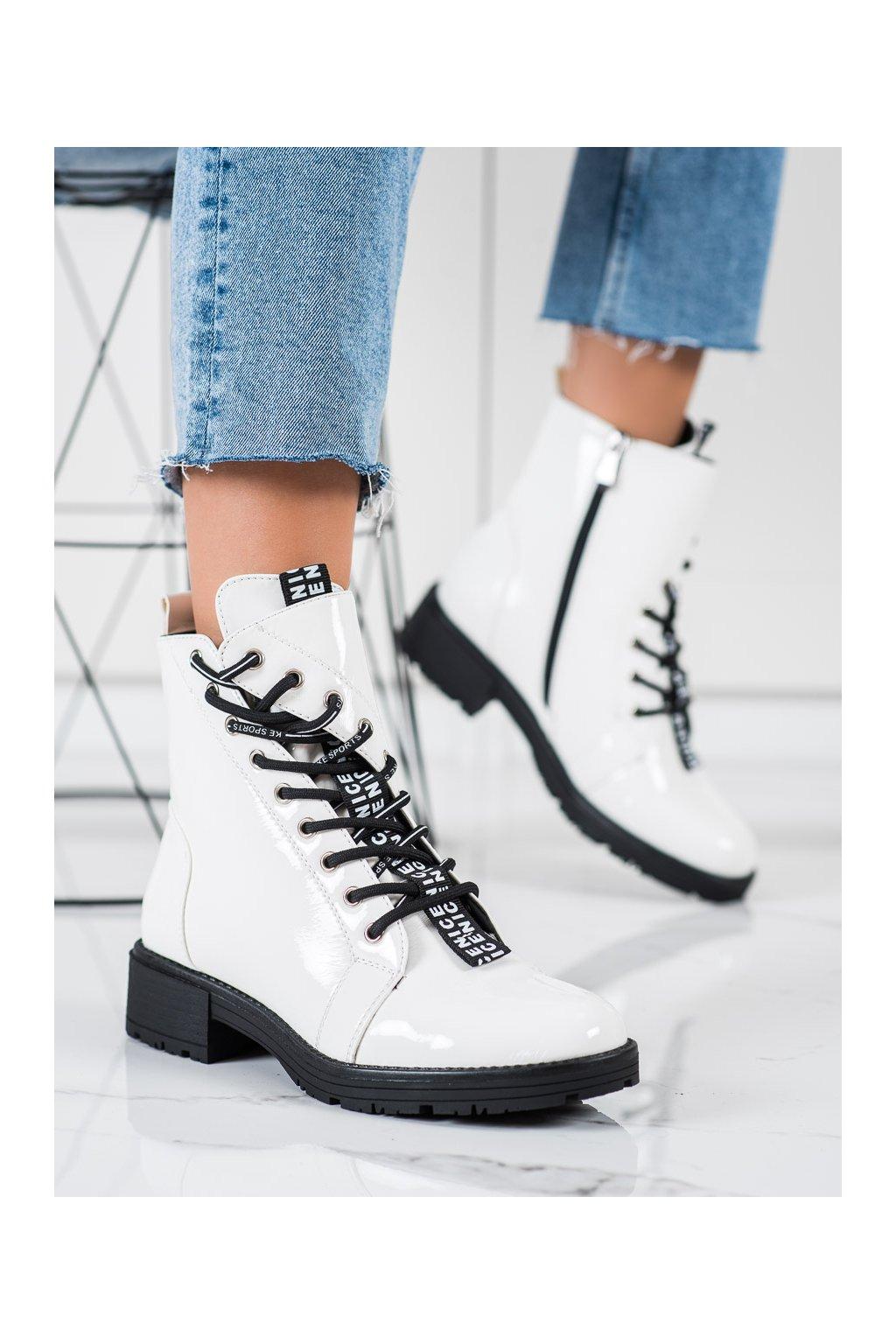 Biele dámske topánky Vinceza kod XY22-10644W