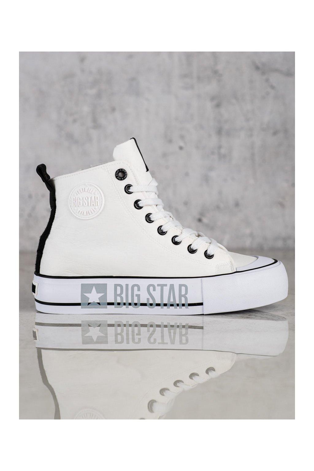 Biele dámske tenisky Big star kod II274014W