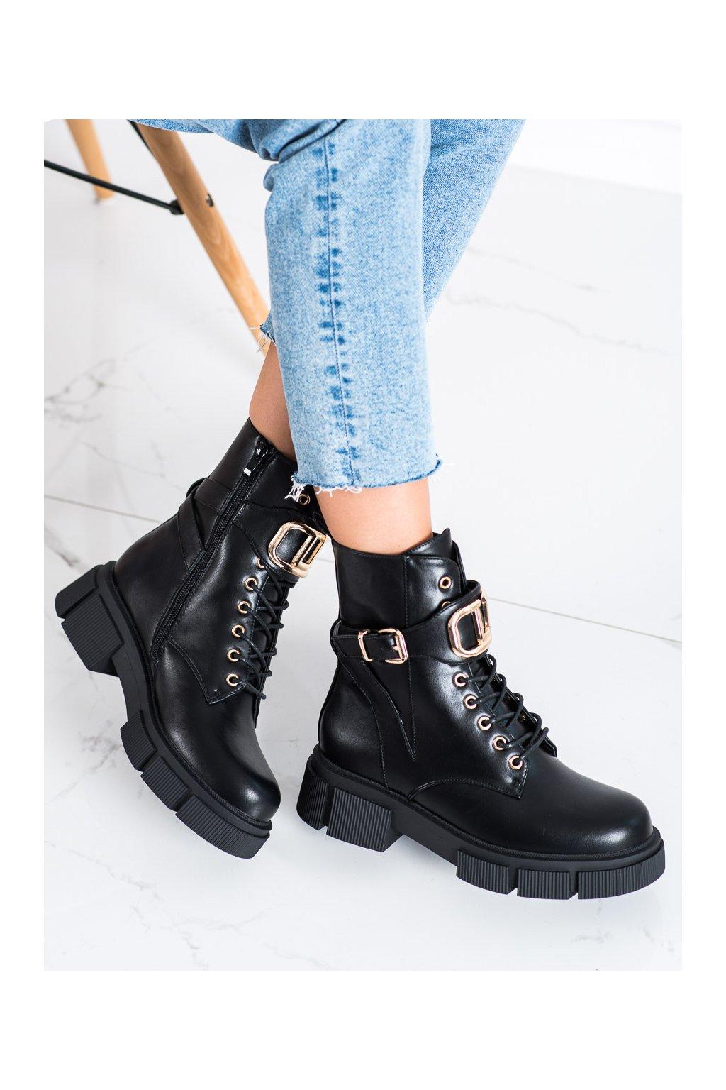 Čierne dámske topánky Seastar kod QT25B