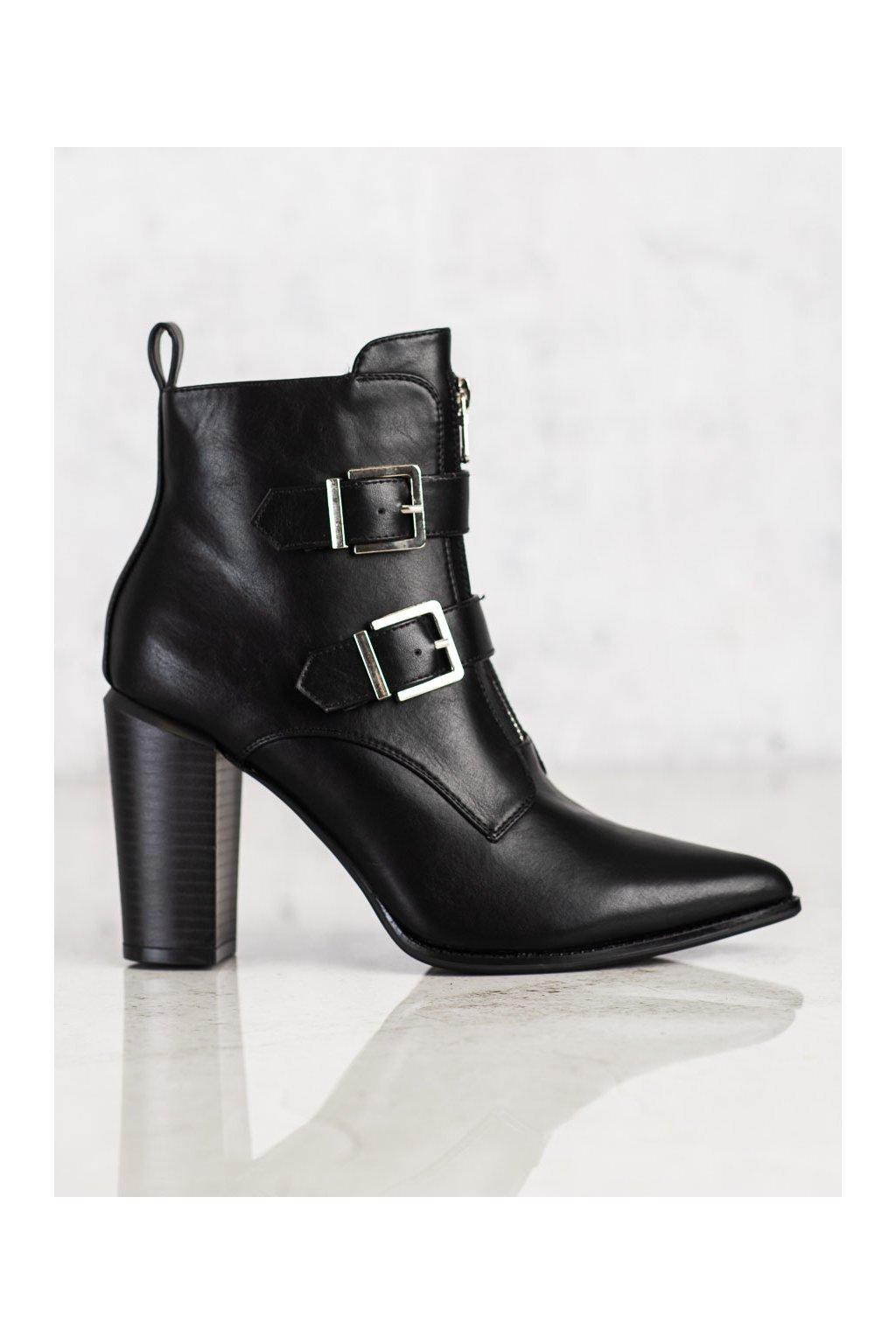 Čierne dámske topánky Vinceza kod HX22-16282B