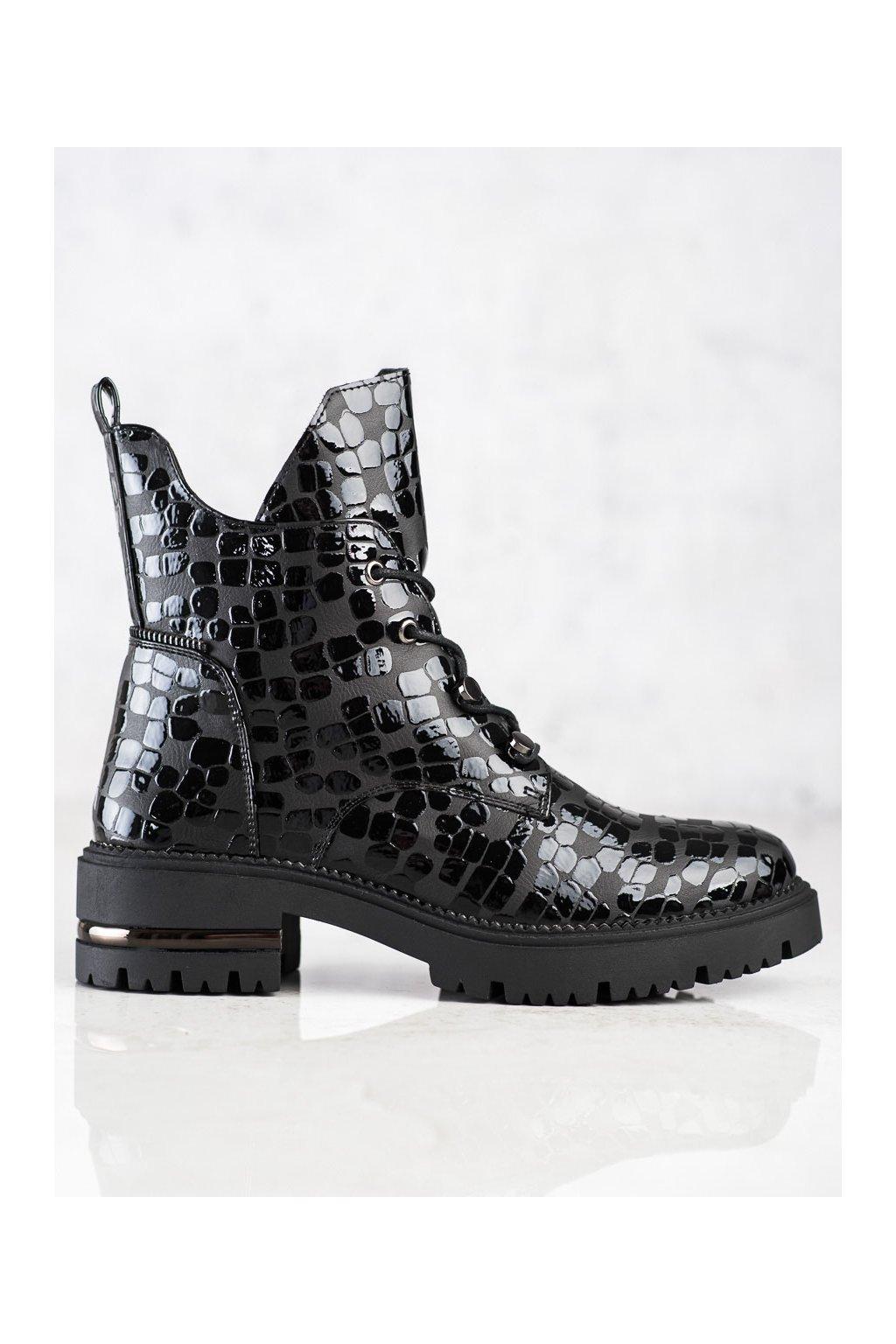 Čierne dámske topánky Sergio leone kod TR744B/B/B