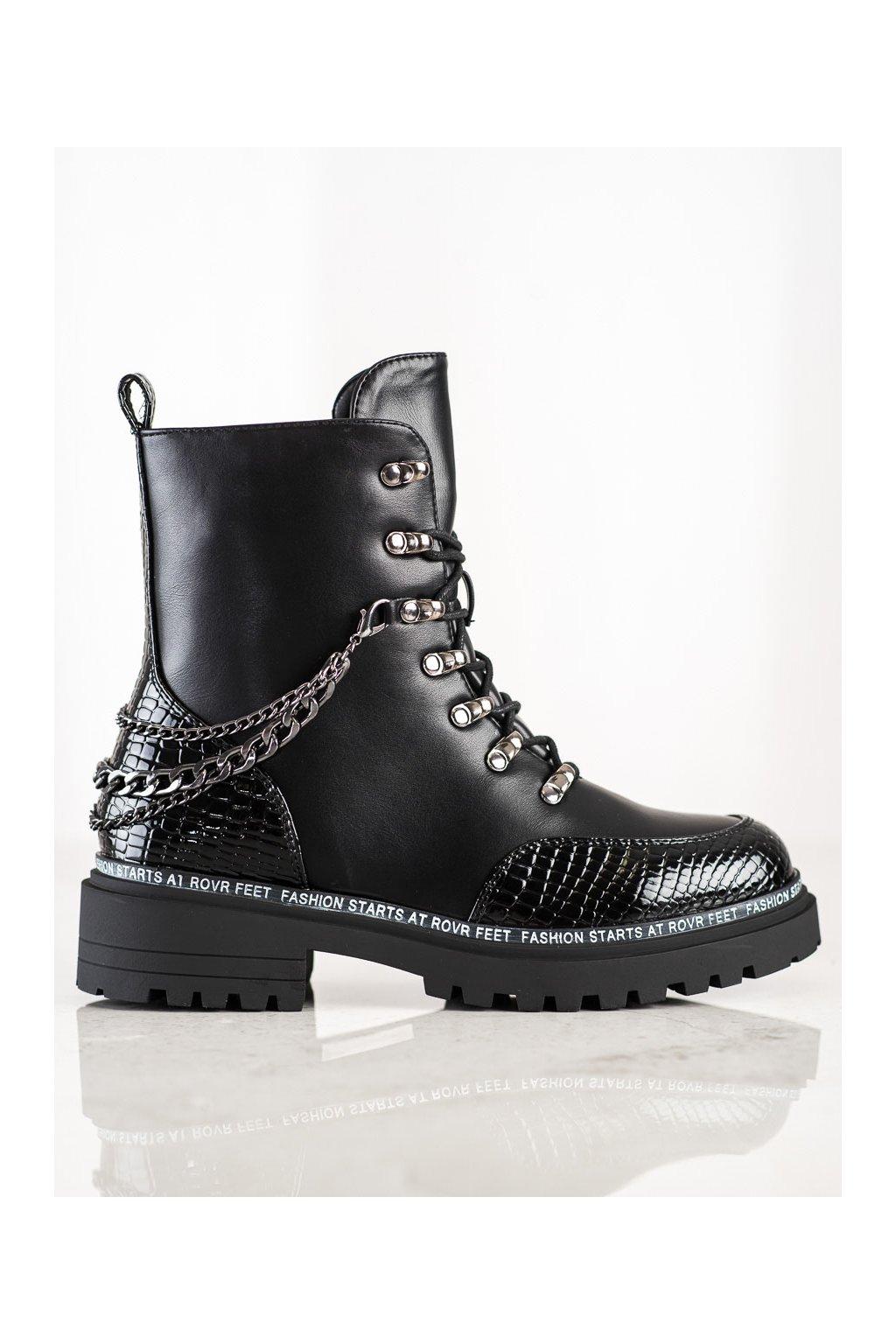 Čierne dámske topánky S. barski kod 60-8B