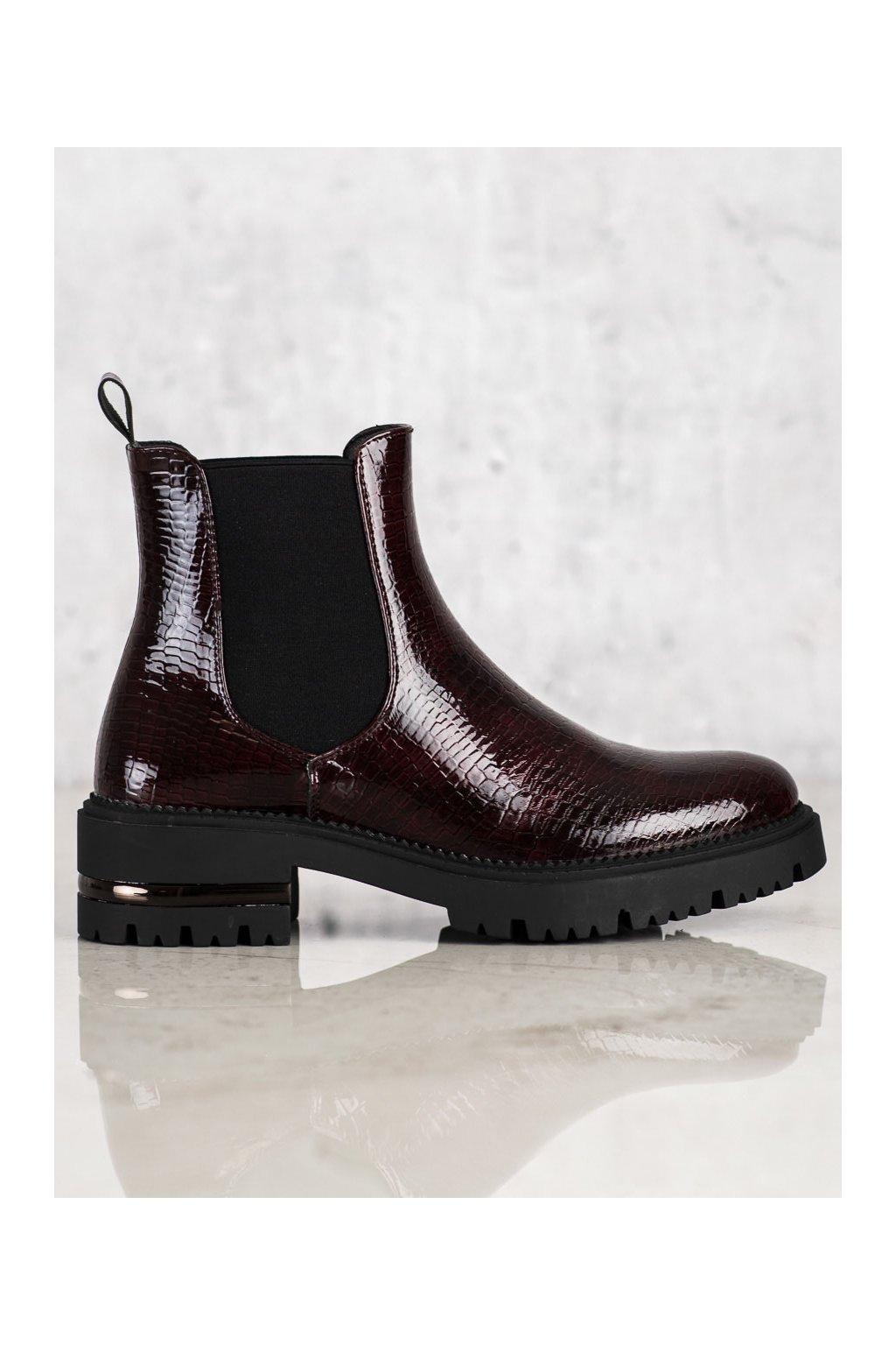 Červené dámske topánky Sergio leone kod TR746BUR