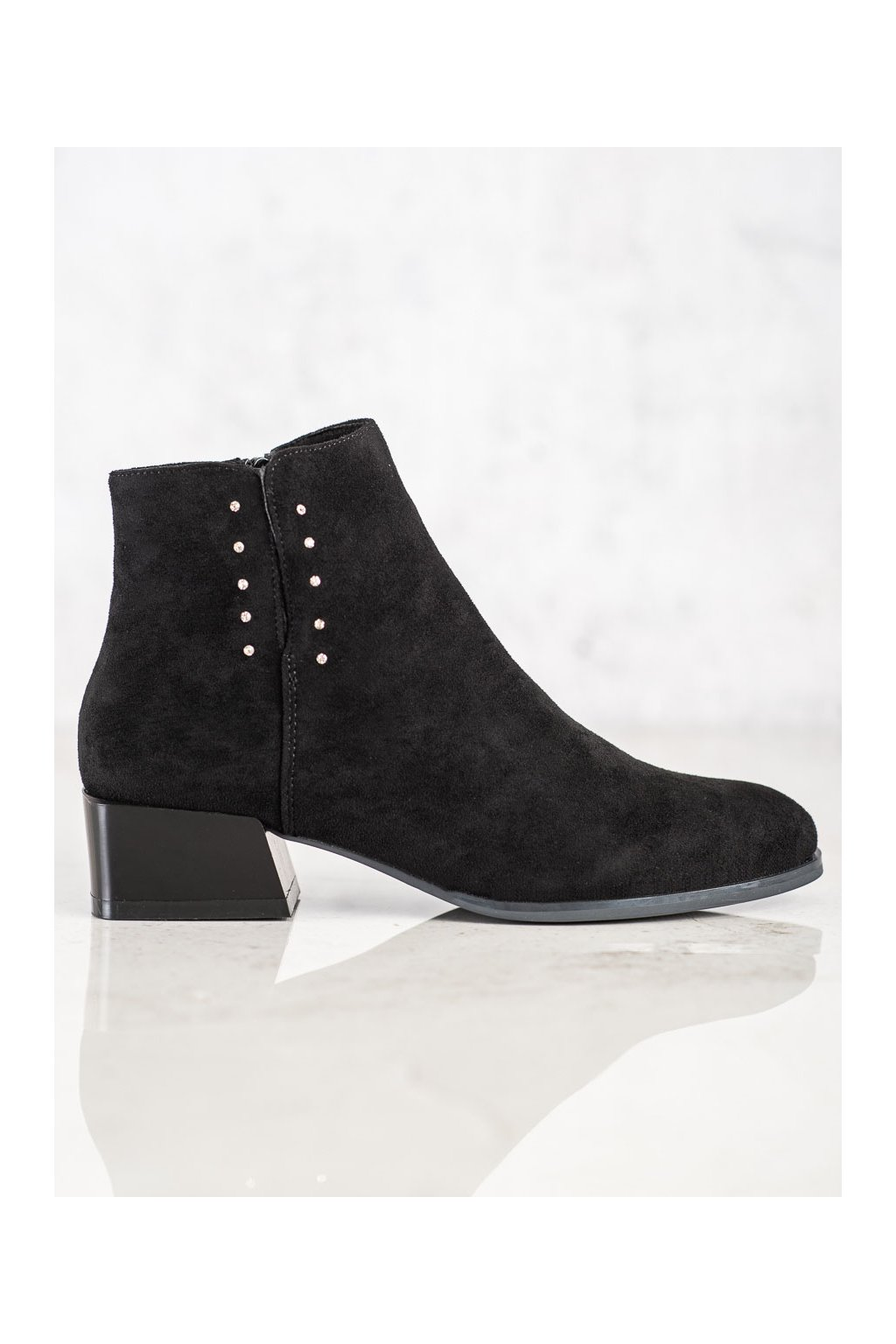 Čierne dámske topánky Sergio leone kod BT217B