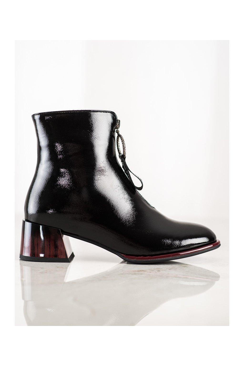 Čierne dámske topánky S. barski kod S43B