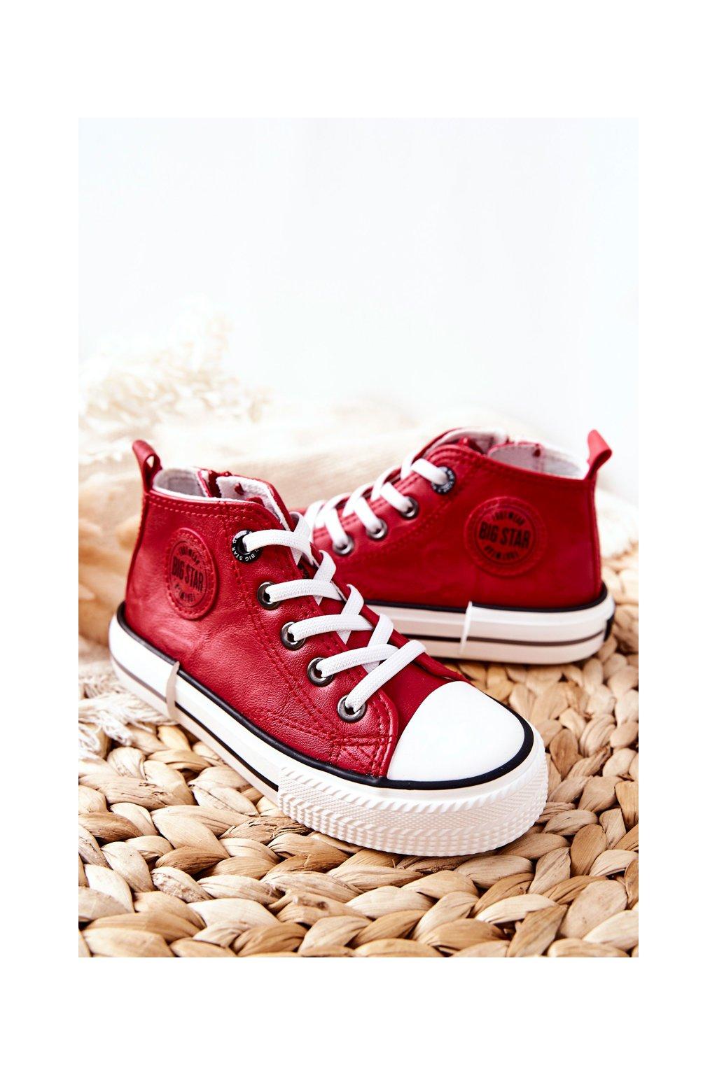 Detské tenisky farba červená kód obuvi II374005 RED