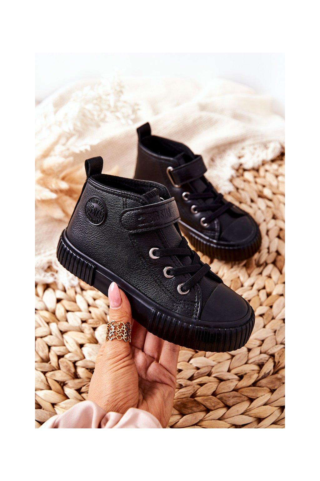 Detské tenisky farba čierna kód obuvi II374016 BLK