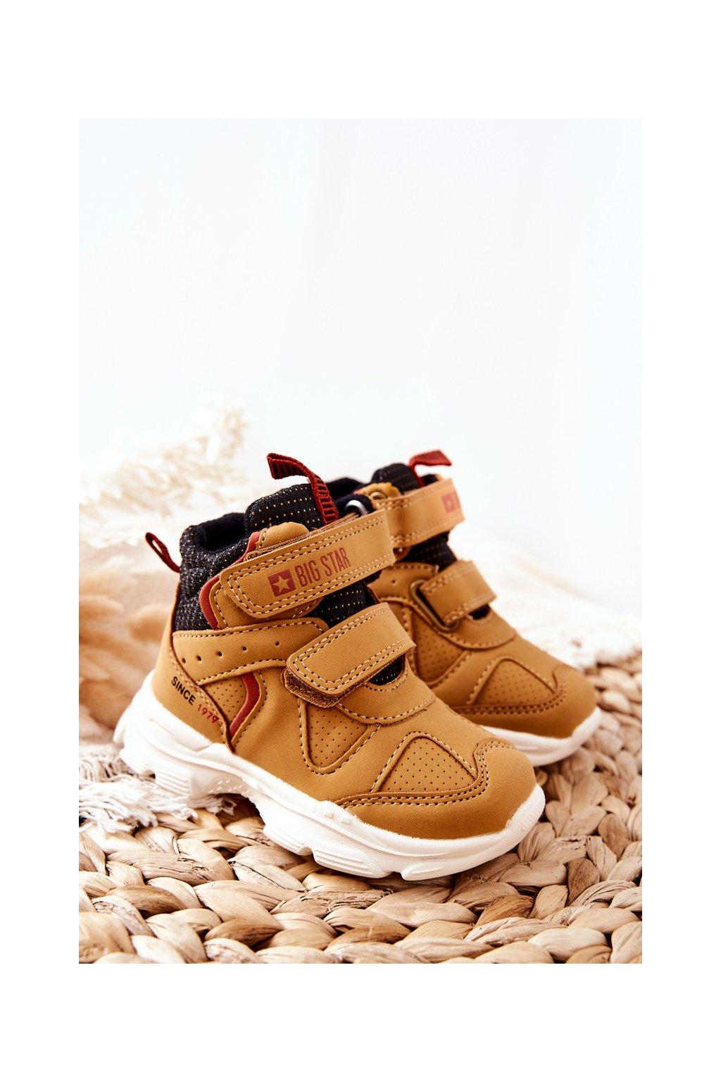 Detské tenisky farba žltá kód obuvi II374094 CAMEL