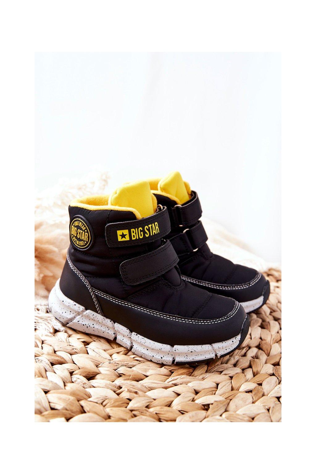 Detské členkové topánky farba čierna kód obuvi II374070 BLK