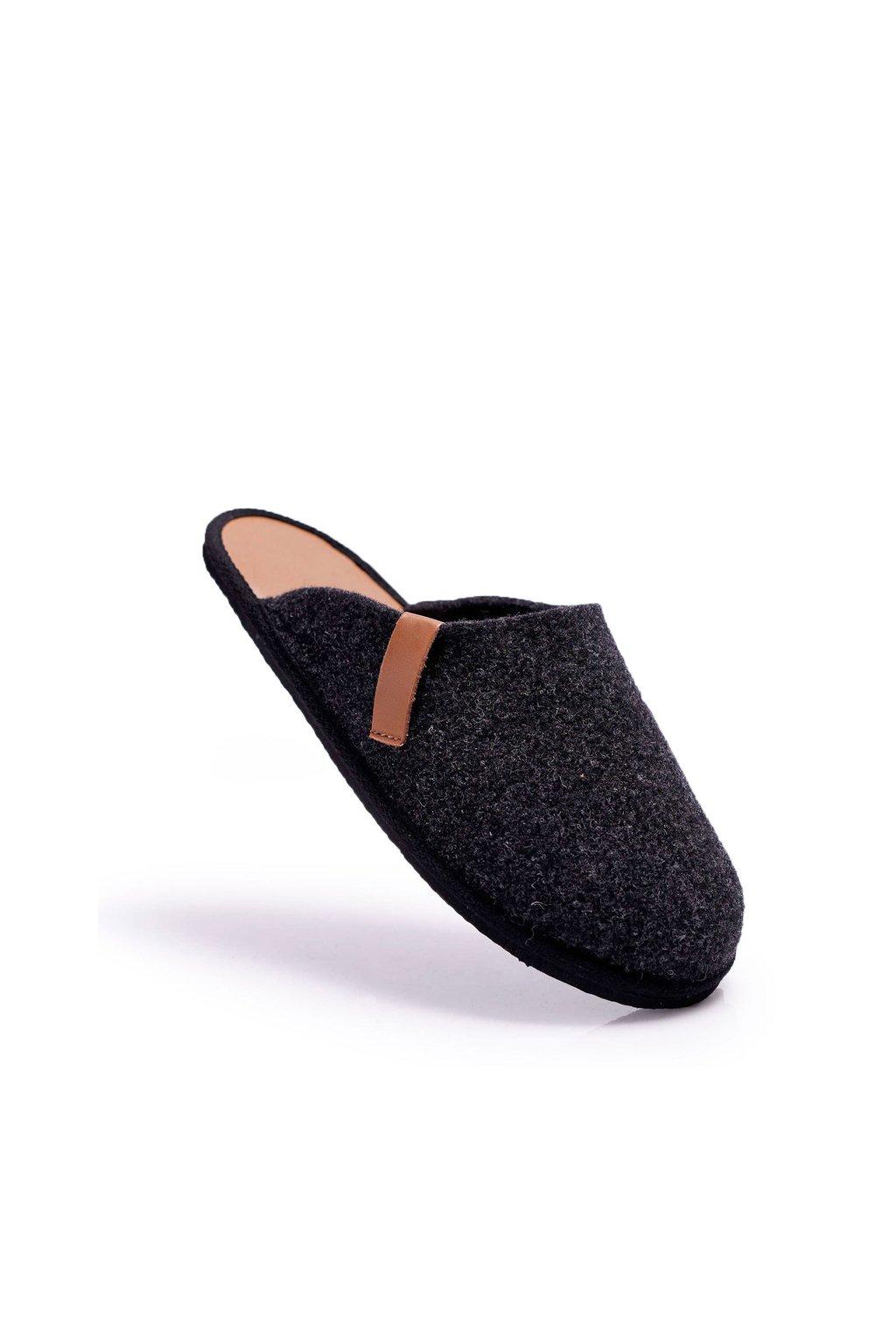 Pánske šľapky farba čierna kód obuvi II167009 CZARNY/BRĄZ