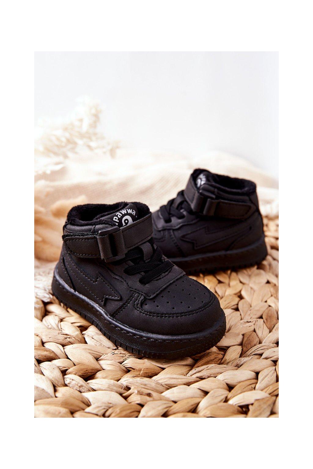 Detské tenisky farba čierna kód obuvi GQ400/401 BLK