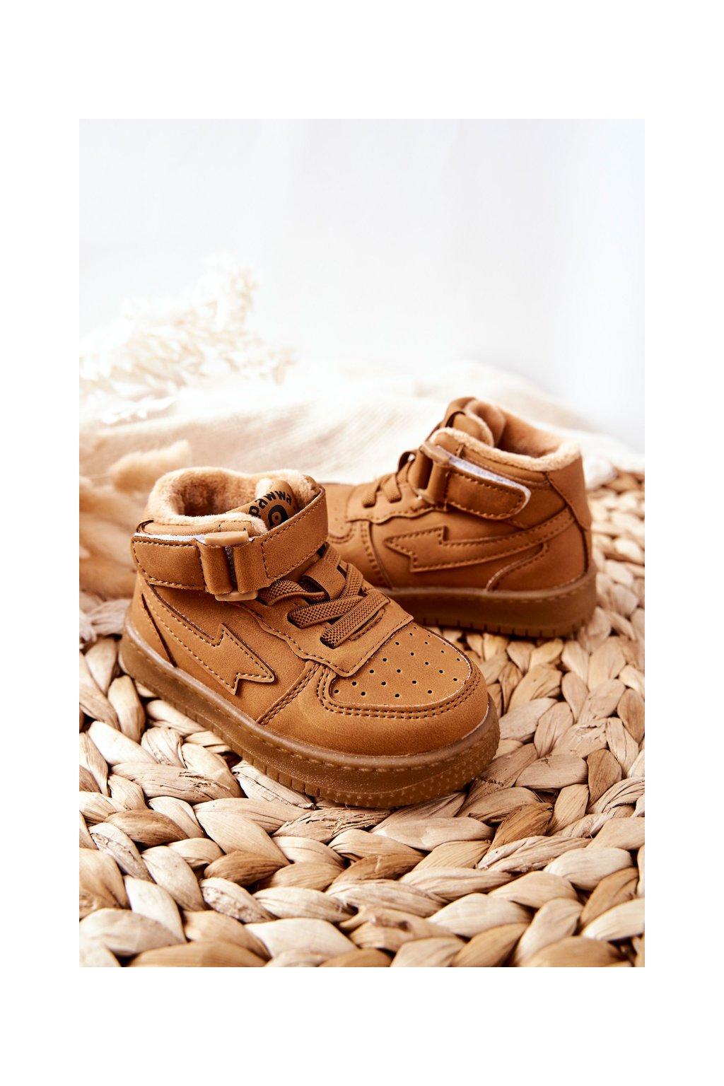 Detské tenisky farba hnedá kód obuvi GQ400/401 CAMEL