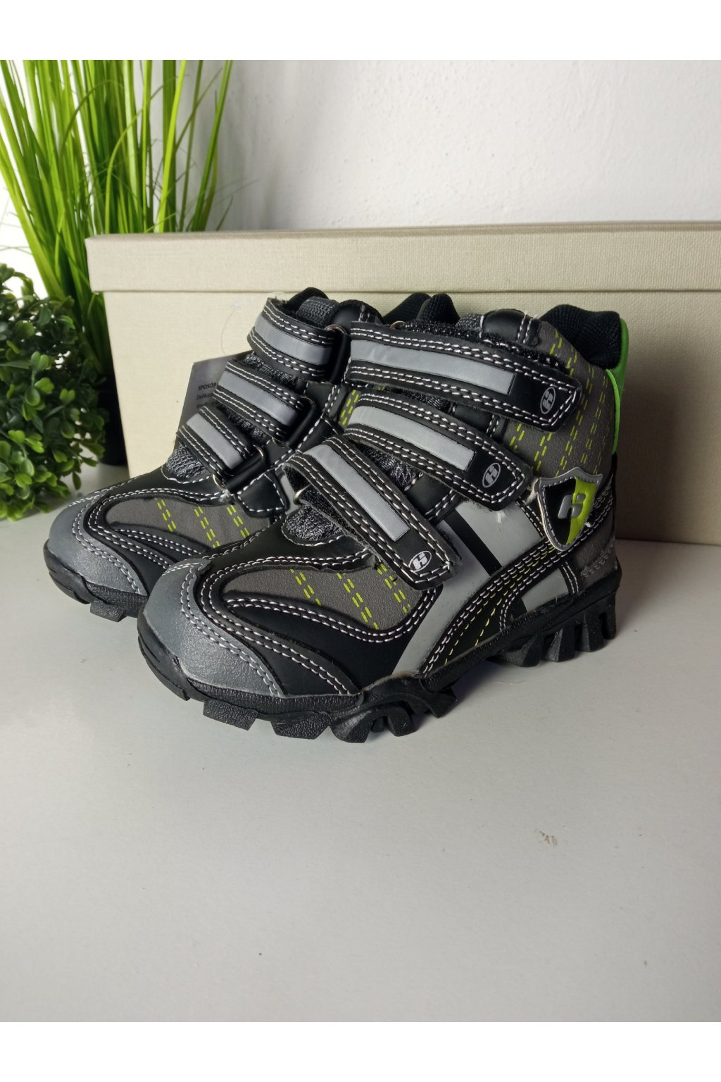 Sivé detské topánky NJSK P2020B/GR