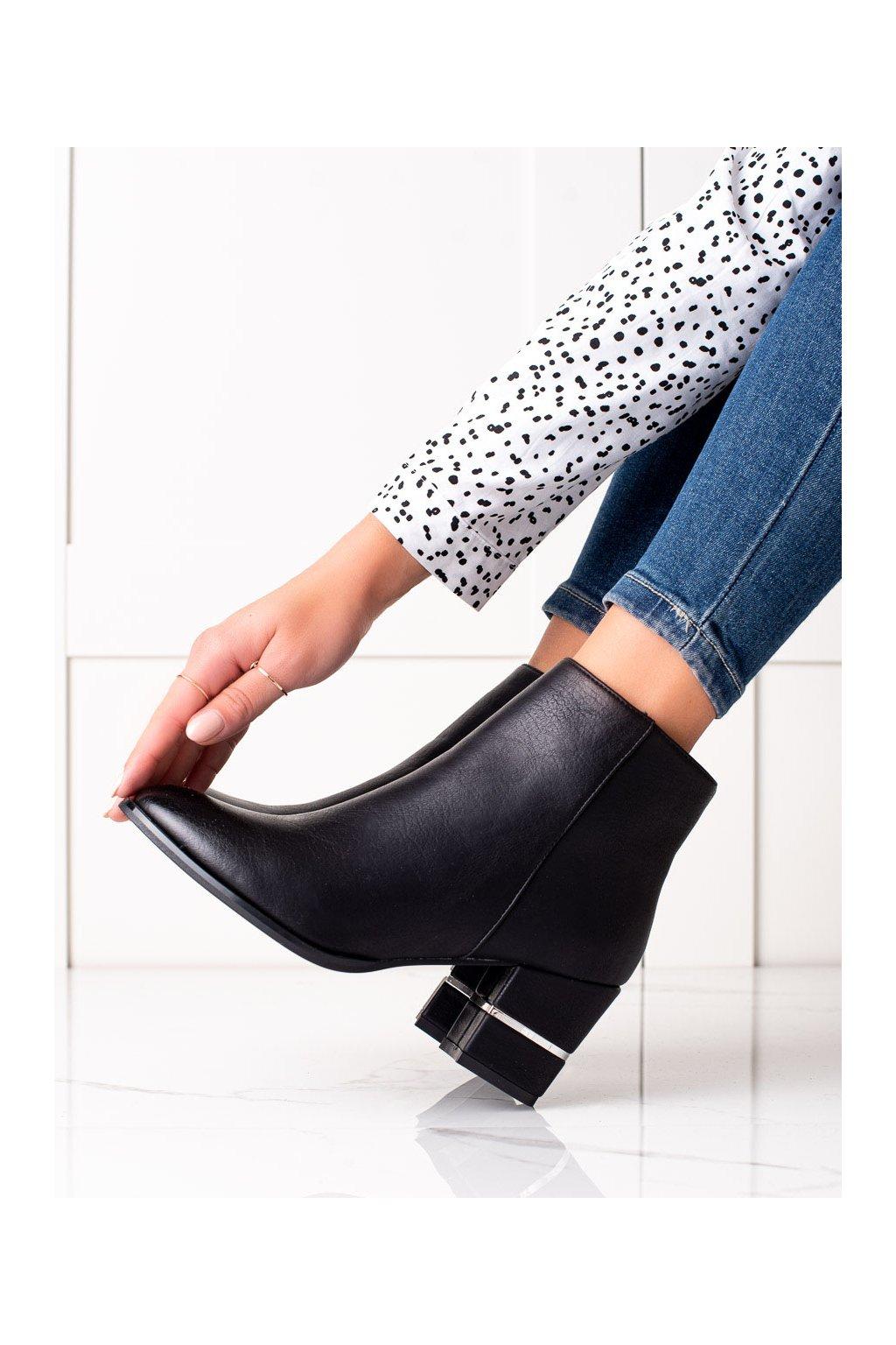 Čierne dámske topánky Trendi kod WS033B