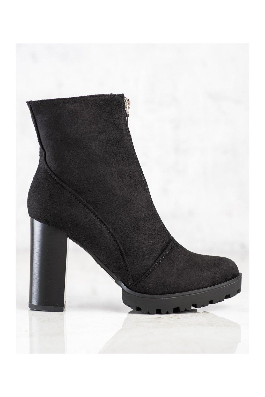 Čierne dámske topánky Cm paris kod 688-A40B