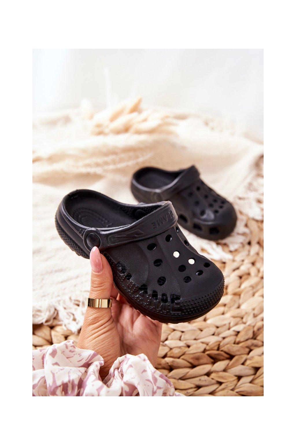 Detské šľapky farba čierna kód obuvi Z-5001 BLK