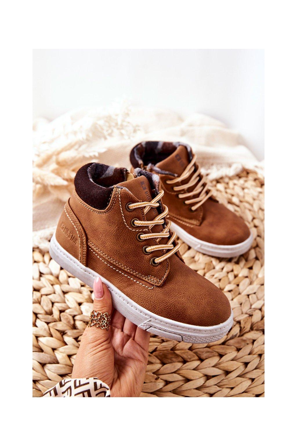 Detské tenisky farba hnedá kód obuvi BB374131BS CAMEL