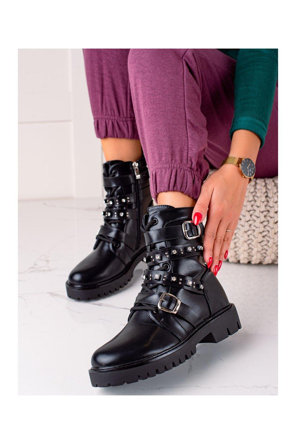 Čierne dámske topánky Trendi kod CLS-156B
