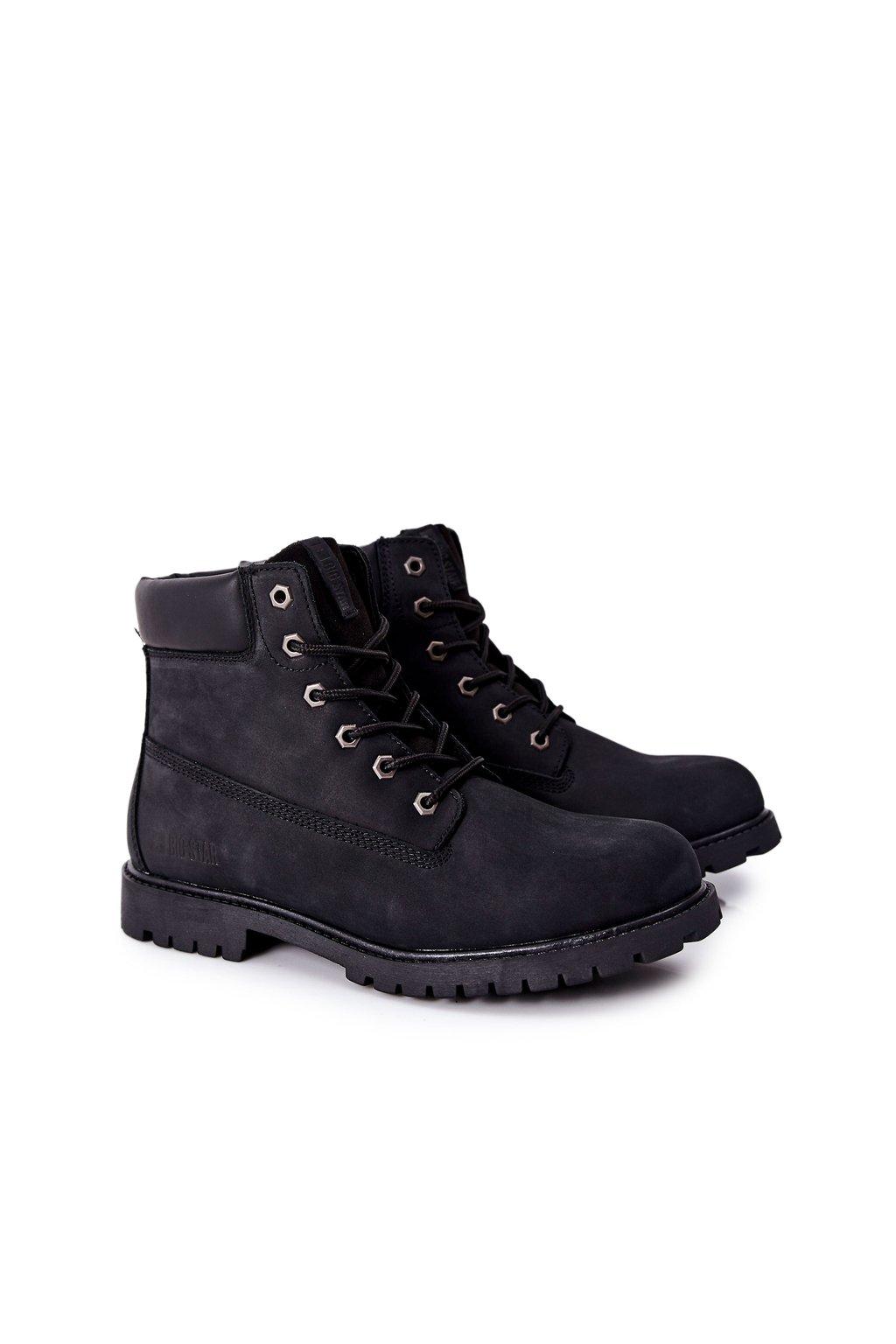 Pánske topánky na zimu farba čierna kód obuvi II174263 BLACK