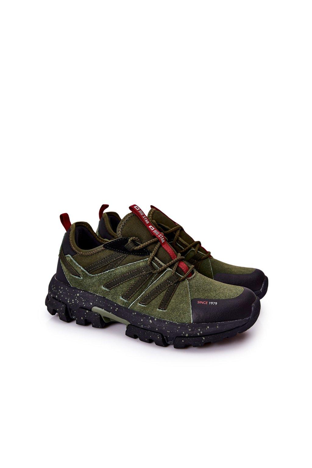 Zelená obuv kód topánok II174235 KHAKI