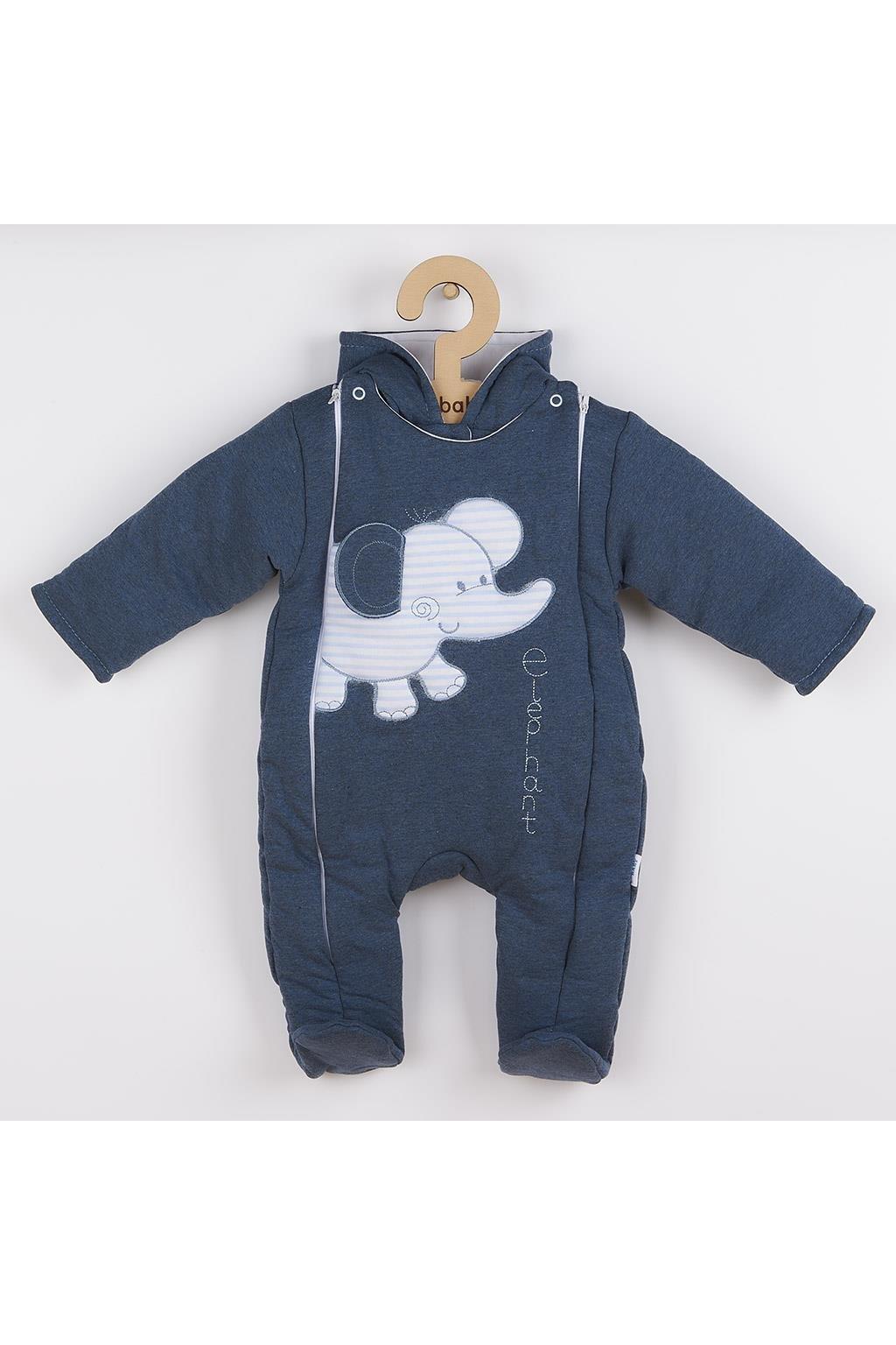 Zimná kombinézka New Baby Winter Elephant jeans