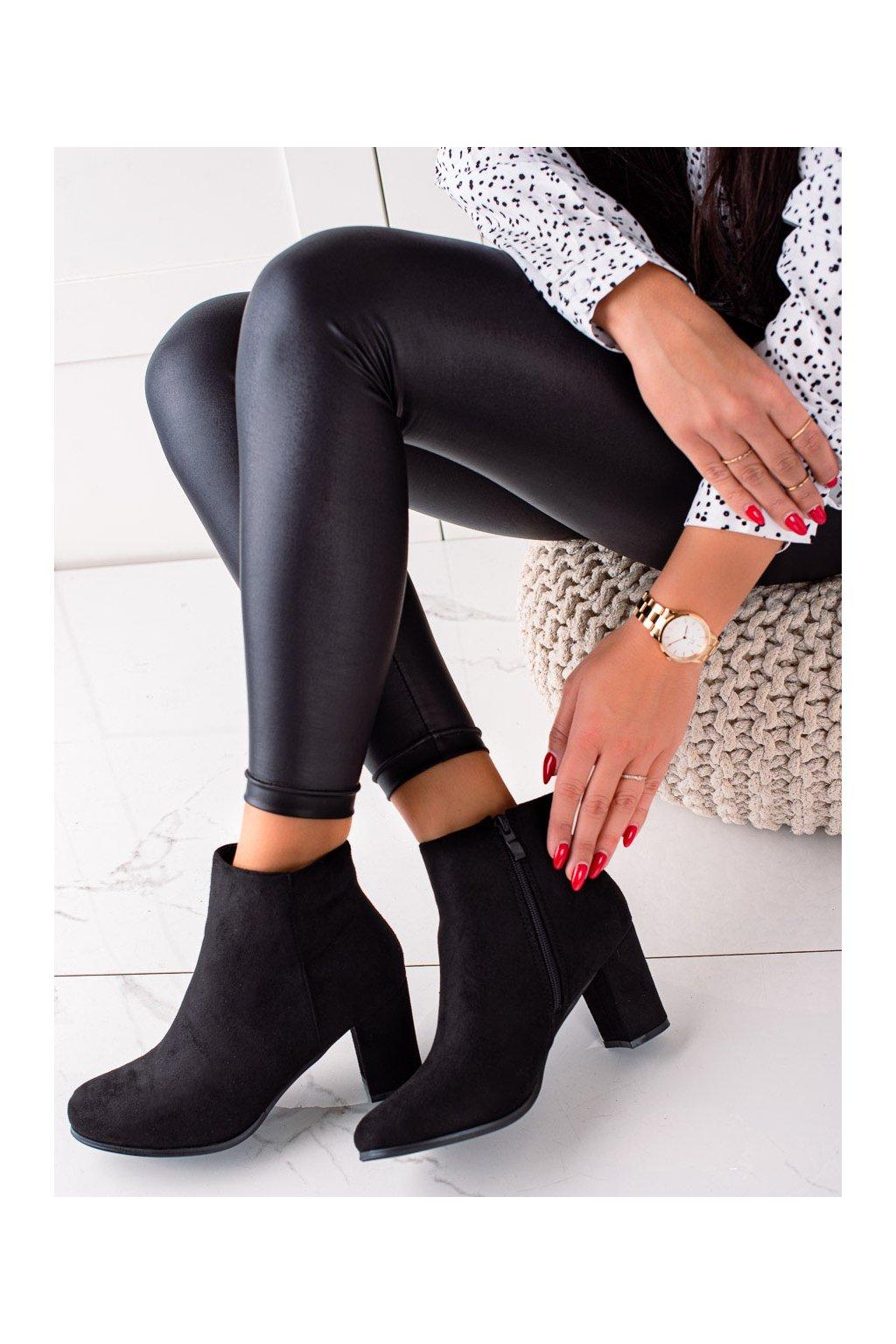 Čierne dámske topánky Trendi kod E2165B