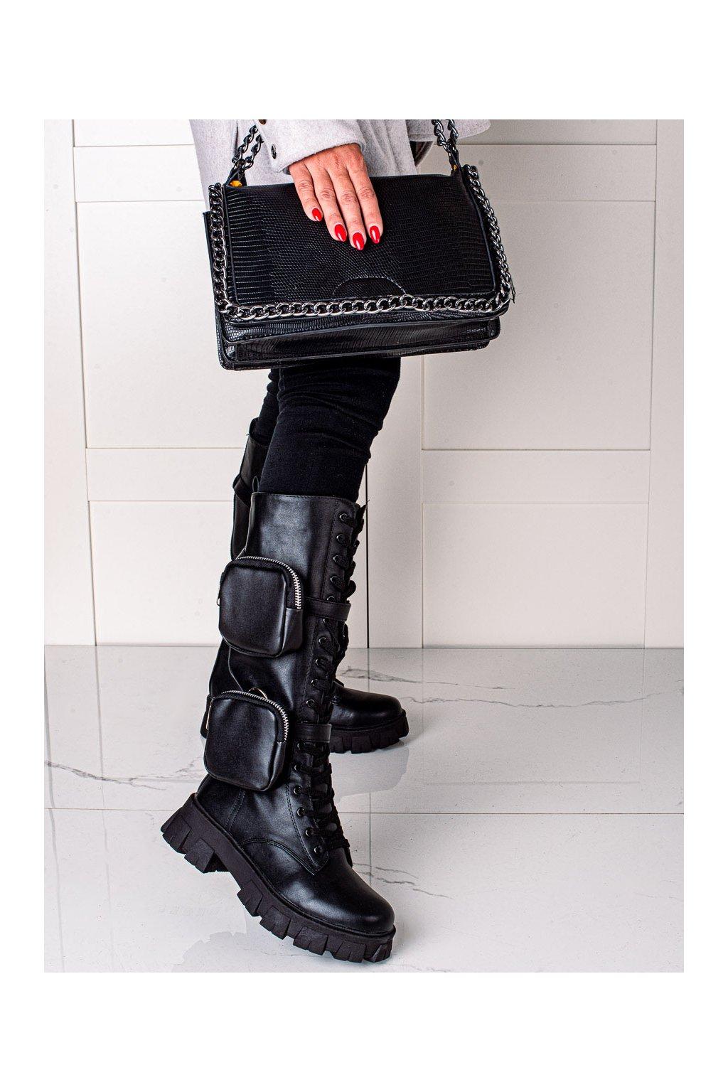 Čierne dámske topánky Best shoes kod FH8S9B