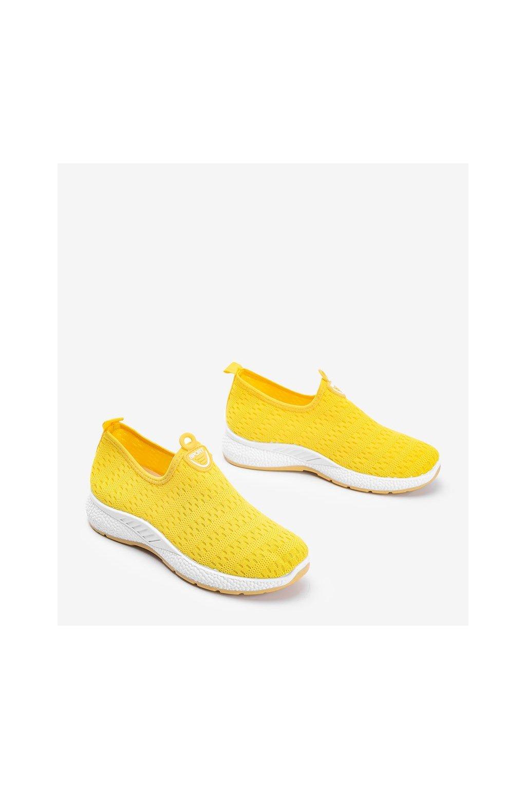 Dámske topánky tenisky žlté NJSK C015 - GM