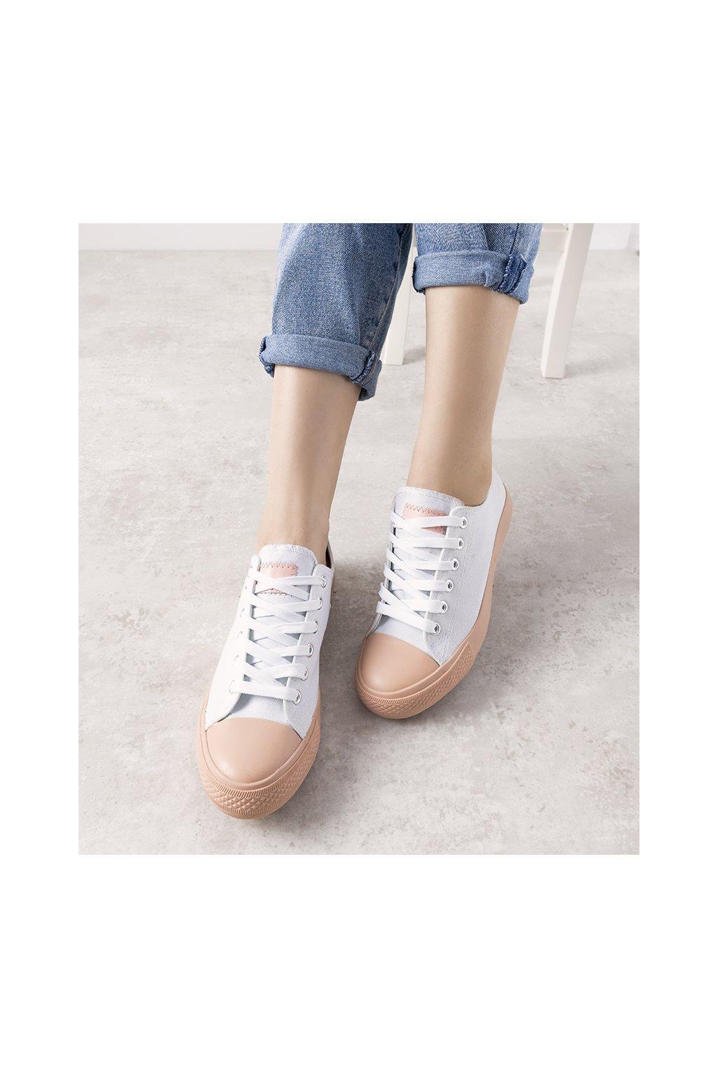 Dámske topánky tenisky biele NJSK B85M-1 - GM