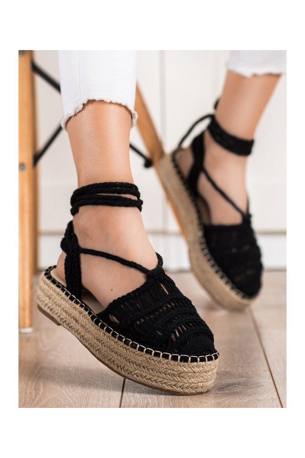 Čierne dámske sandále Small swan kod OM5460B