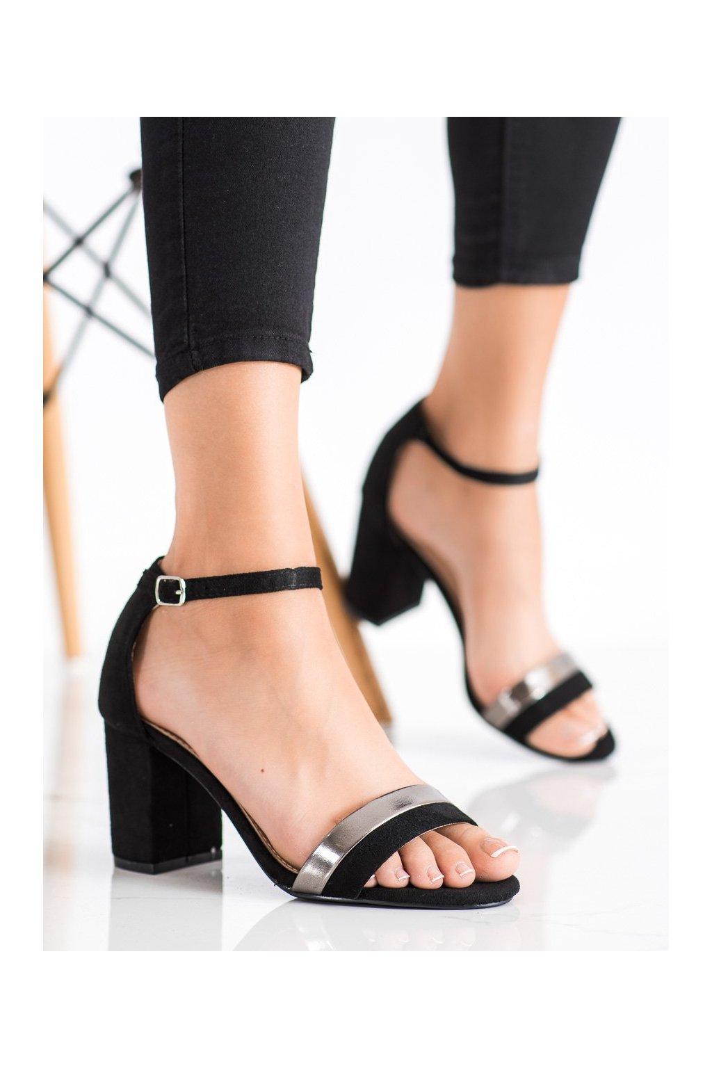 Čierne dámske sandále Laura mode kod QL-110B