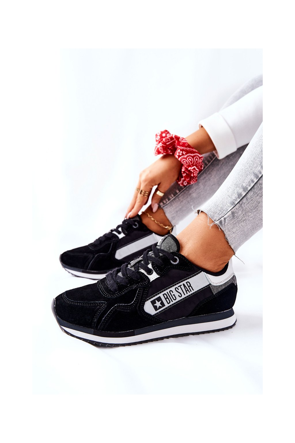 Dámske tenisky farba čierna kód obuvi II274271 BLK