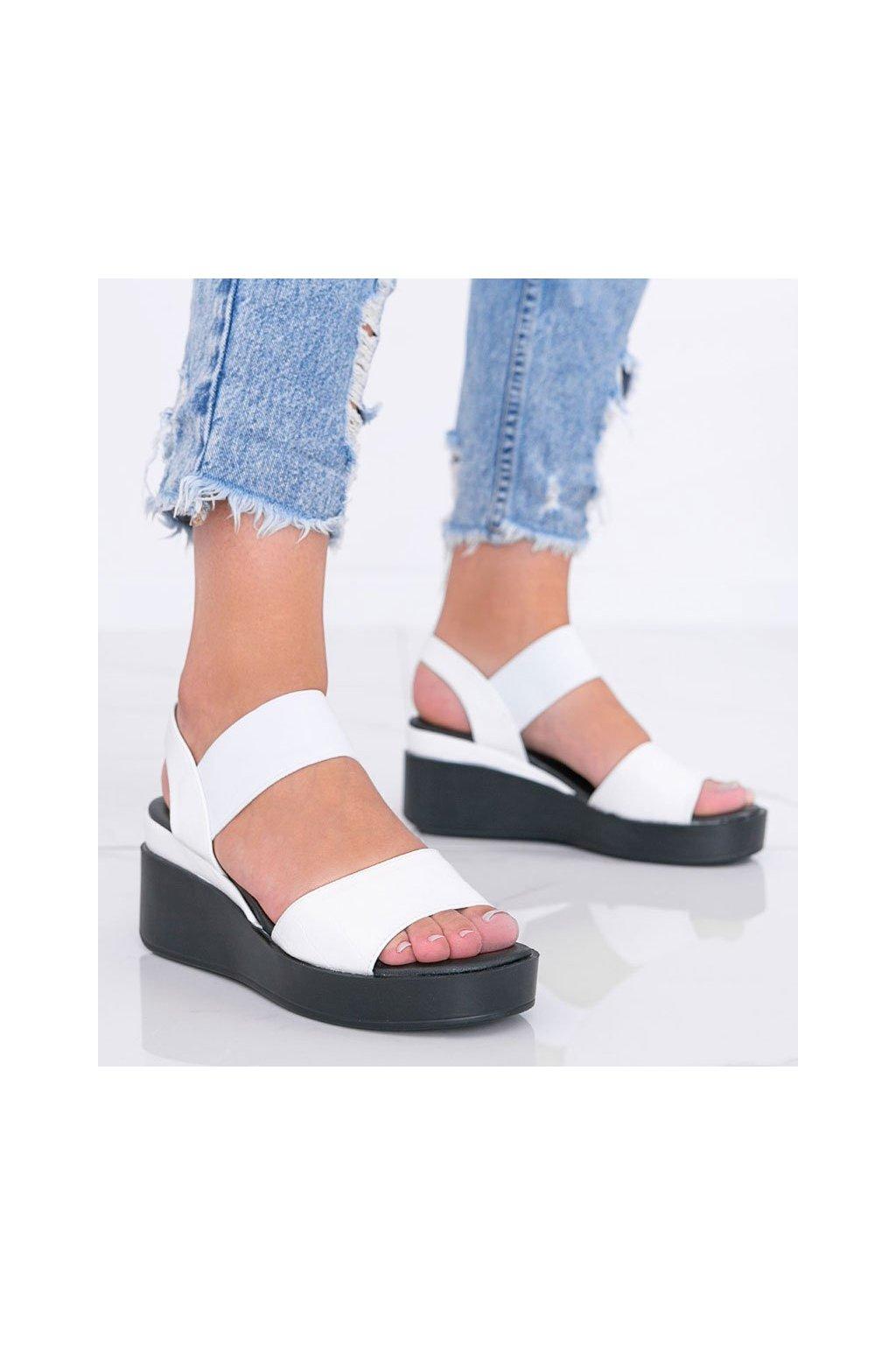 Dámske topánky sandále biele NJSK 3363 - GM