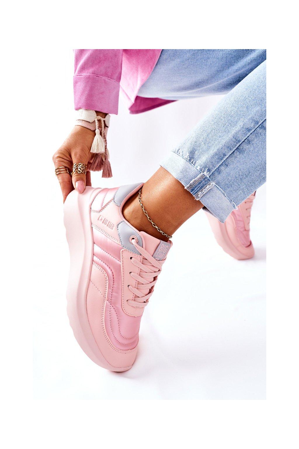 Dámske tenisky farba ružová NJSK II274333 PINK